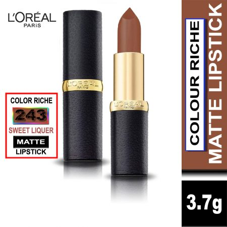 L'Oreal Paris Color Riche Moist Matte Lipstick (243 Sweet Liquer)
