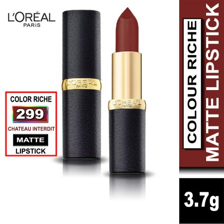 L'Oreal Paris Color Riche Moist Matte Lipstick (299 Chateau Interdit)