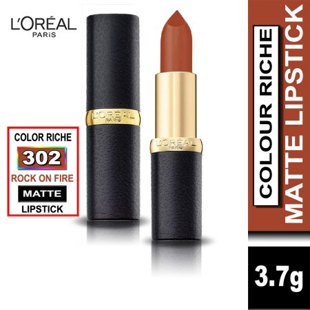 L'Oreal Paris Color Riche Moist Matte Lipstick (302 Rock on Fire)