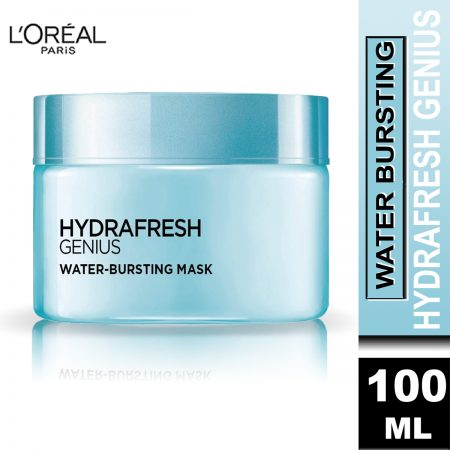 L'Oreal Paris Hydrafresh Genius Water Bursting Mask, 100ml