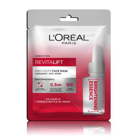 L'Oreal Paris Revitalift Essence Face Sheet Mask, Brightening And Hydrating 30 gm