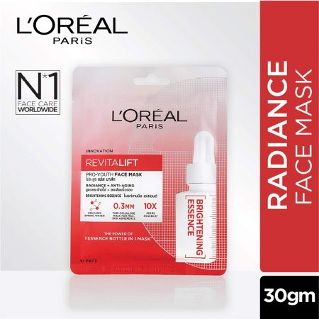 L'Oreal Paris Revitalift Essence Face Sheet Mask, Brightening And Hydrating 30g