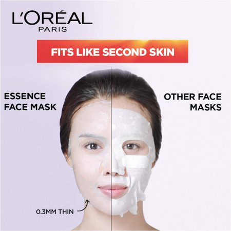 L'Oreal Paris Revitalift Essence Face Sheet Mask, Brightening And Hydrating 30 g