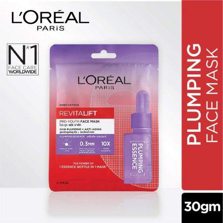 L'Oreal Paris Revitalift Essence Face Sheet Mask, Plumping And Hydrating 30g