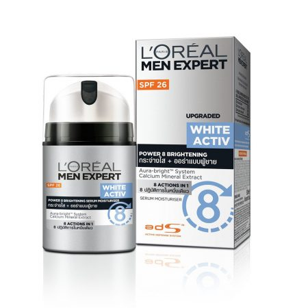 L'Oreal White Activ Men Expert Power 8 Brightening Moisturiser 50 ml