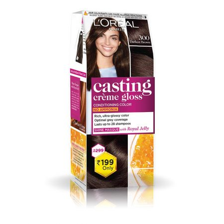 L'Oreal Paris Casting Cream Gloss Hair Colour 300 Darkest Brown