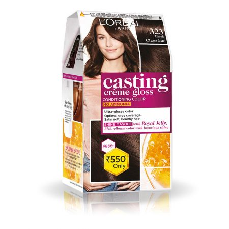 L'Oreal Paris Casting Cream Gloss Hair Colour 323 Dark Chocolate 87g