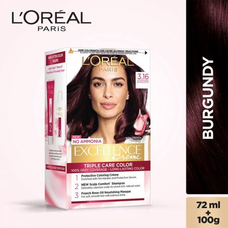 L'Oreal Paris Excellence Cream Triple Care Colour 3.16 Burgundy 72 ml + 100g