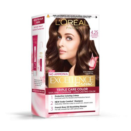 L'Oreal Paris Excellence Cream Triple Care Colour 4.25 Aishwaryas Brown 72 ml + 100g