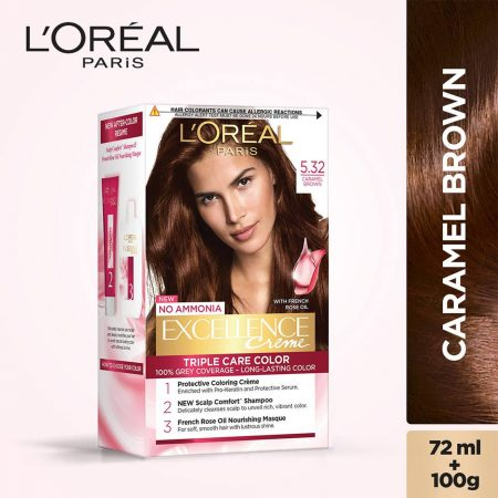 L'Oreal Paris Excellence Cream Triple Care Colour Caramel Brown