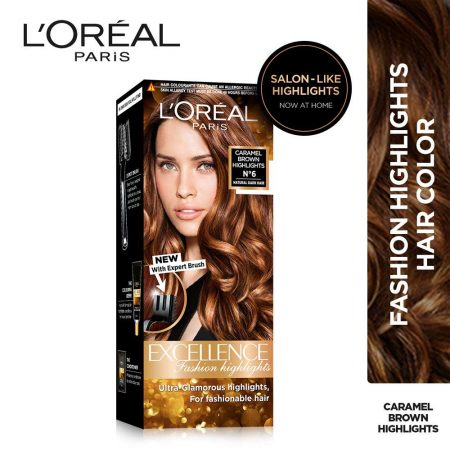 L'Oreal Paris Excellence Fashion Caramel Brown Highlights N6