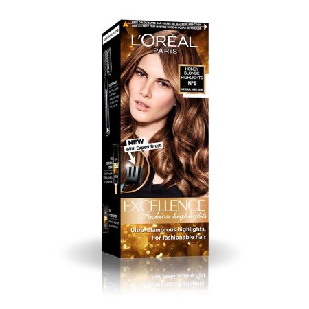 L'Oreal Paris Excellence Fashion Honey Blonde Highlights N⁰5 Hair Color, 29ml+16g