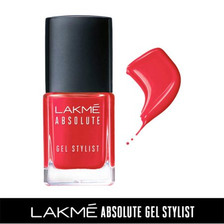Lakme Absolute Gel Stylist Nail Color Blazing, 15ml