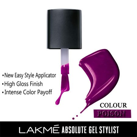 Lakme Absolute Gel Stylist Nail Color Poison, 15ml