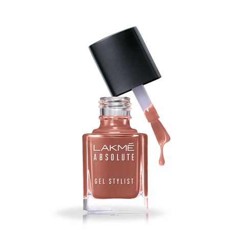 Lakme Absolute Gel Stylist Nail Color Saddle, 15ml