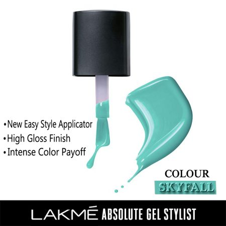 Lakme Absolute Gel Stylist Nail Color Skyfall, 15ml
