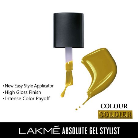 Lakme Absolute Gel Stylist Nail Color Soldier, 15ml