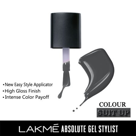 Lakme Absolute Gel Stylist Nail Color SuitUp, 15ml
