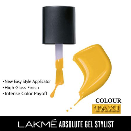 Lakme Absolute Gel Stylist Nail Color Taxi, 15ml