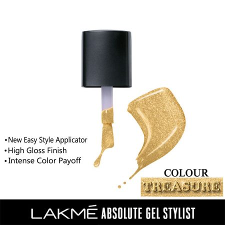 Lakme Absolute Gel Stylist Nail Color Treasure, 15ml