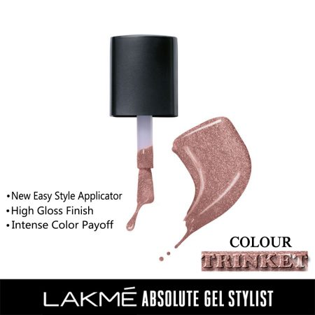 Lakme Absolute Gel Stylist Nail Color Trinket, 15ml