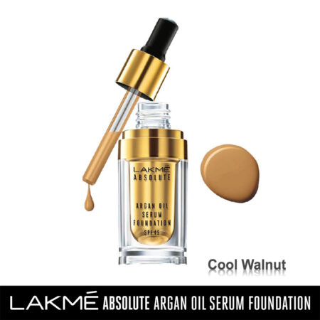 Lakme Absolute Argan Oil Serum Foundation, Cool Walnut (15ml)