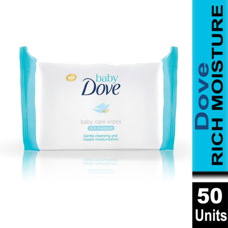 Dove  Baby Rich Moisture Baby Care Wipes (50 Wipes)