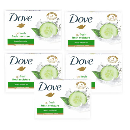 Dove Go Fresh Moisture Beauty Bathing Bar(75g) Pack of 5