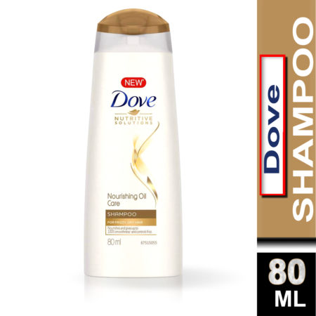 Dove Nourishing Oil Care Shampoo (80ml) Pack of 2