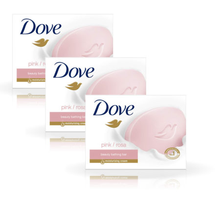 Dove Pink Rosa Beauty Bathing Bar (75g) Pack of 3