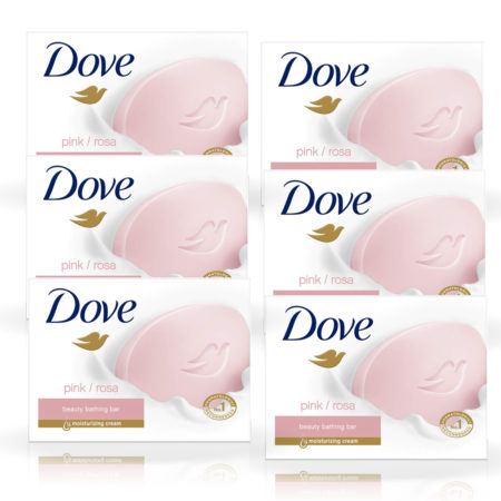Dove Pink Rosa Beauty Bathing Bar (75g) Pack of 6