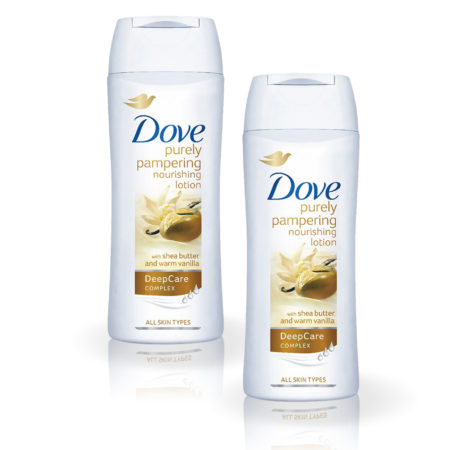 Dove Purely Pampering Nourishing Body Lotion with Shea Butter and Warm Vanilla (100ml) Pack of 2