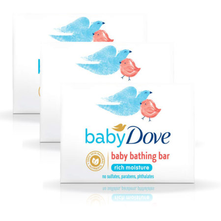 Dove Rich Moisture Baby Bar (75g) Pack of 3