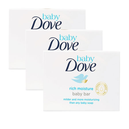 Dove Rich Moisture Baby Bar (50g) Pack of 3