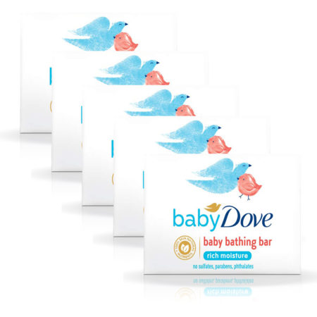 Dove Rich Moisture Baby Bar (75g) Pack of 5