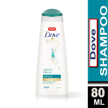 Dove Split End Rescue Shampoo (80ml) Pack of 2
