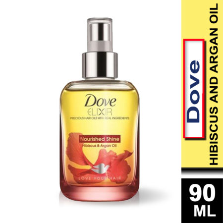 Dove Elixir Nourished Shine Hibiscus and Argan Hair Oil (90ml)
