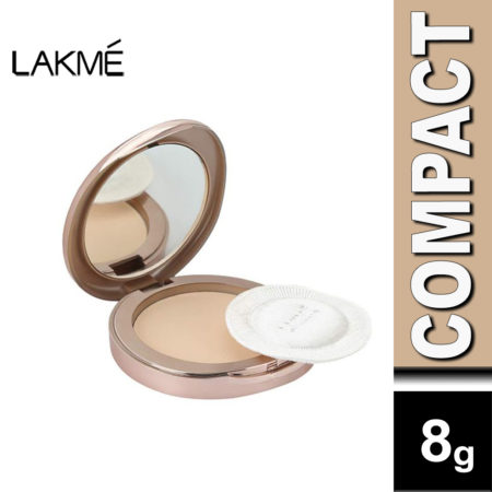 LakmE 9to5 Flawless Matte Complexion Compact, Almond (8g)