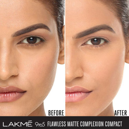 LakmE 9to5 Flawless Matte Complexion Compact, Apricot (8 g)