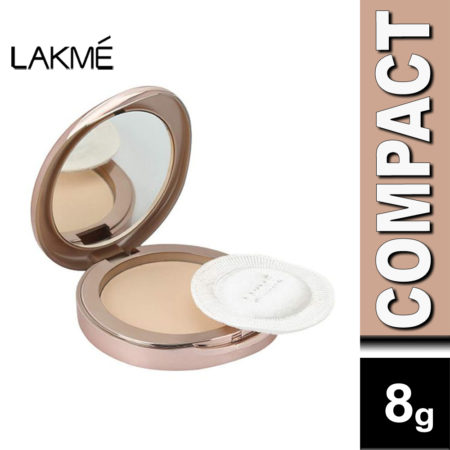 LakmE 9to5 Flawless Matte Complexion Compact, Apricot (8g)