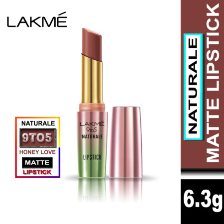 Lakme 9 to 5 Naturale Matte Lipstick, Honey Love, 3.6g