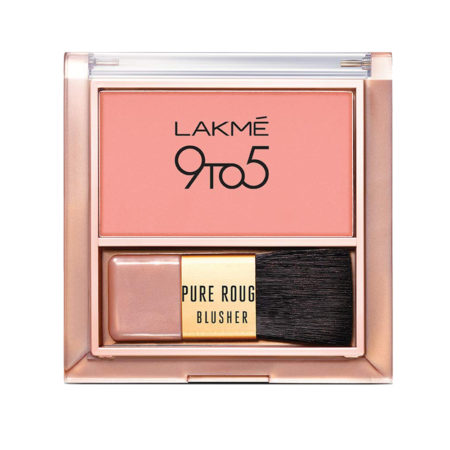 Lakme 9to5 Pure Rouge Blusher, Nude Flush 6gm