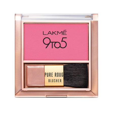 Lakme 9to5 Pure Rouge Blusher, Pretty Pink 6g