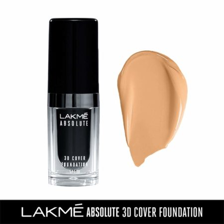 Lakme Absolute 3D Cover Foundation, Warm Sand, 15ml