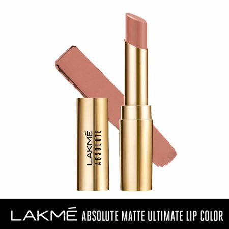 Lakme Absolute Matte Ultimate Lip Color With Argan Oil, Brunch Nude (3.4g)