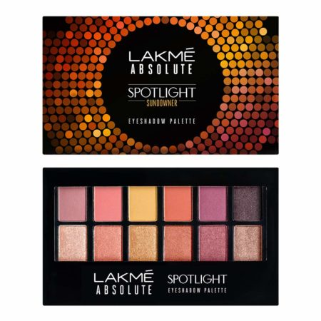 Lakme Absolute Spotlight Eye Shadow Palette, Sundowner, 12g