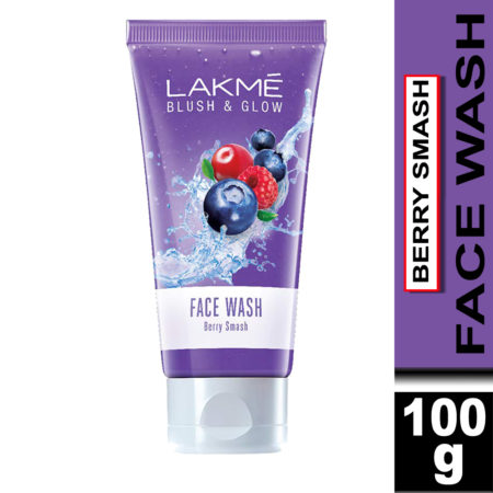 Lakme Blush & Glow Berry Smash Gel Face Wash With Berries Extracts, 100g