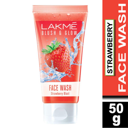Lakme Blush & Glow Strawberry Freshness Gel Face Wash With Strawberry Extracts, 50g (Pack of 2)