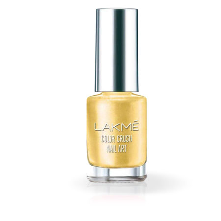 Lakme Color Crush Nail Art, Gold M12 (6ml)