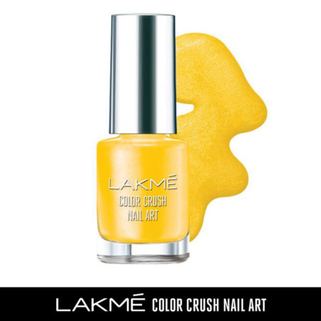 Lakme Color Crush Nail Art, Sunny Yellow M19 (6ml)